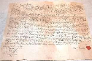 18th Century Indenture-South Carolina.