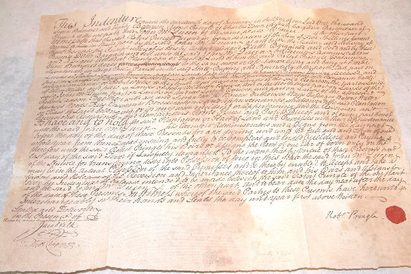 9: 18th Century Indenture-South Carolina.