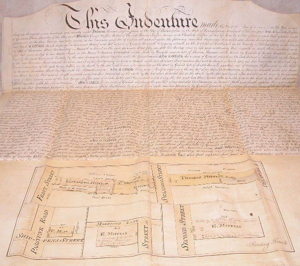 10: 18th Century Indenture-Philadelphia