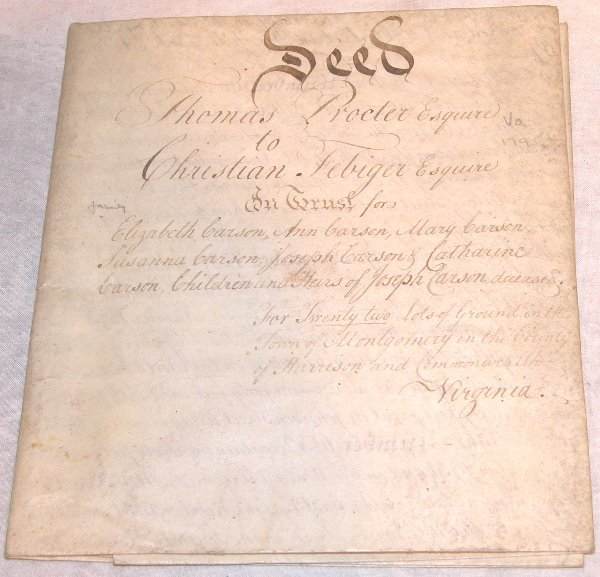 11: 18th Century Indenture-Philadelphia.