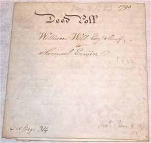 18th Century Deed Poll-Philadelphia.
