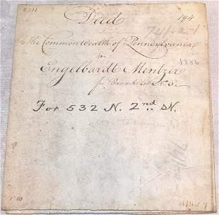 18th Century Deed-Pennsylvania.