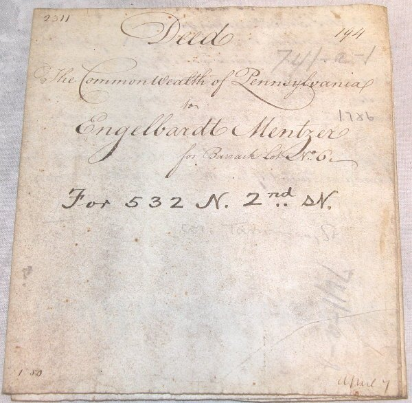 14: 18th Century Deed-Pennsylvania.