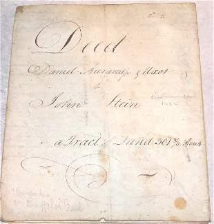 18th Century Indenture-Pennsylvania.