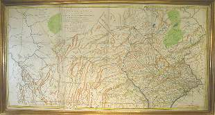 18th Century Map of Pennsylvania.