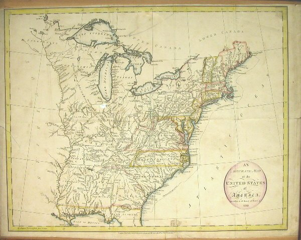 18: 18th Century Map of North America.
