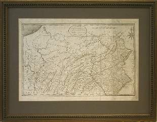 Early 19th Century Map of Pennsylvania.