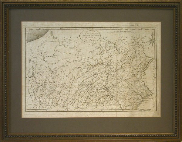 19: Early 19th Century Map of Pennsylvania.