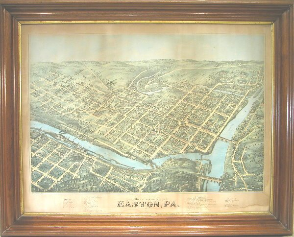 21: Birds Eye View Map of Easton.