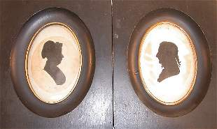 Pair of Framed Peales Museum Silhouettes.
