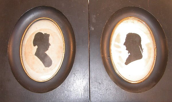 23: Pair of Framed Peales Museum Silhouettes.