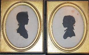 Pair of Framed Silhouettes.