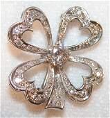 99 Diamond FourLeaf Clover Brooch