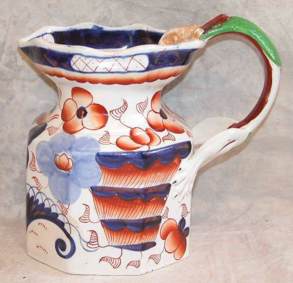 541: Gaudy Welsh Pitcher with Dragon Handle.