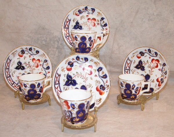 544: Set of Gaudy Welsh Demitasse Cups and Saucers – Oy