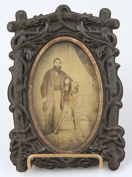 1098: CDV of Man-Daguerrian Camera
