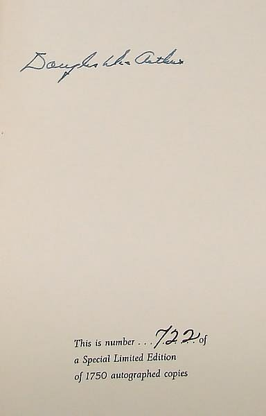 2004: Autograph of Douglas MacArthur-Signed Book
