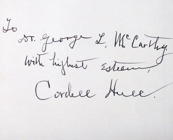 2006: Autograph of Cordell Hull-Signed Book