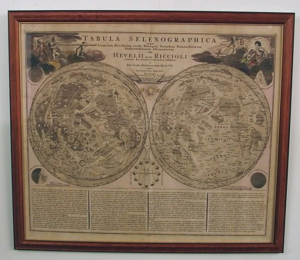 2019: 18th century Map of the Moon