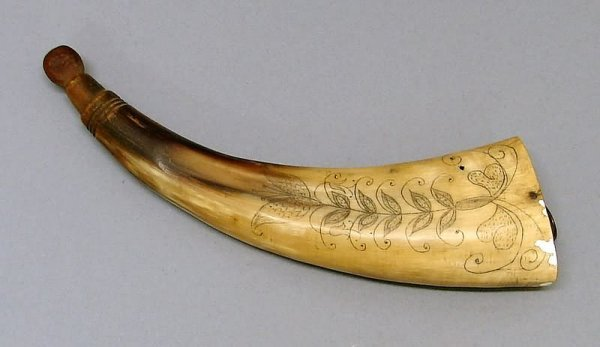 2025: Scrimshawed Powder Horn