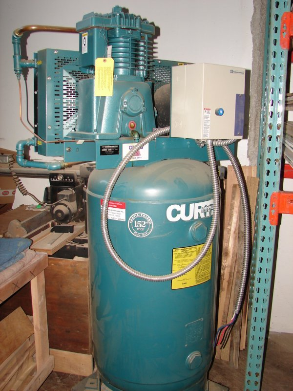 7016: Curtis-Toledo 80 gal Air Compressor