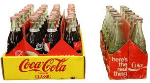 CocaCola Cardboard Carriers and Bottles