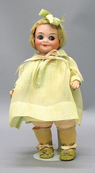 """1001: Bisque 10"""" Germany 323 AM Googly Character Doll"""
