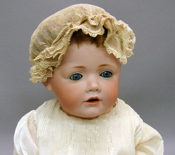 "1002: German Bisque 21"" L. 16 245 JDK 1070 Hilda Doll"
