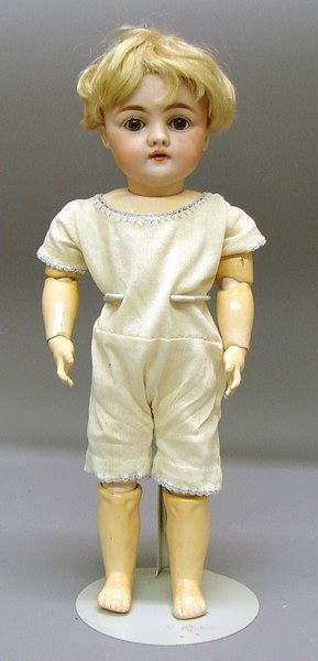 """1005: German Bisque 13"""" C 7 143 Character Doll"""