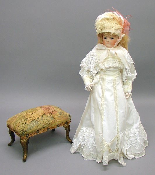 """1008: German Bisque,18"""" Closed Mouth Shoulder Head Doll"""
