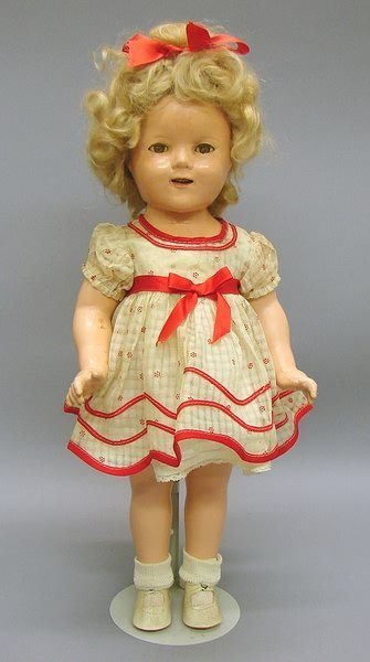 """1022: 18"""" Ideal Compo Shirley Temple Doll with Box"""
