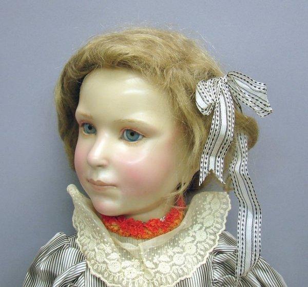 """1136: 26"""" Wax-over Porcelain Artist Brigette DeVal Doll"""