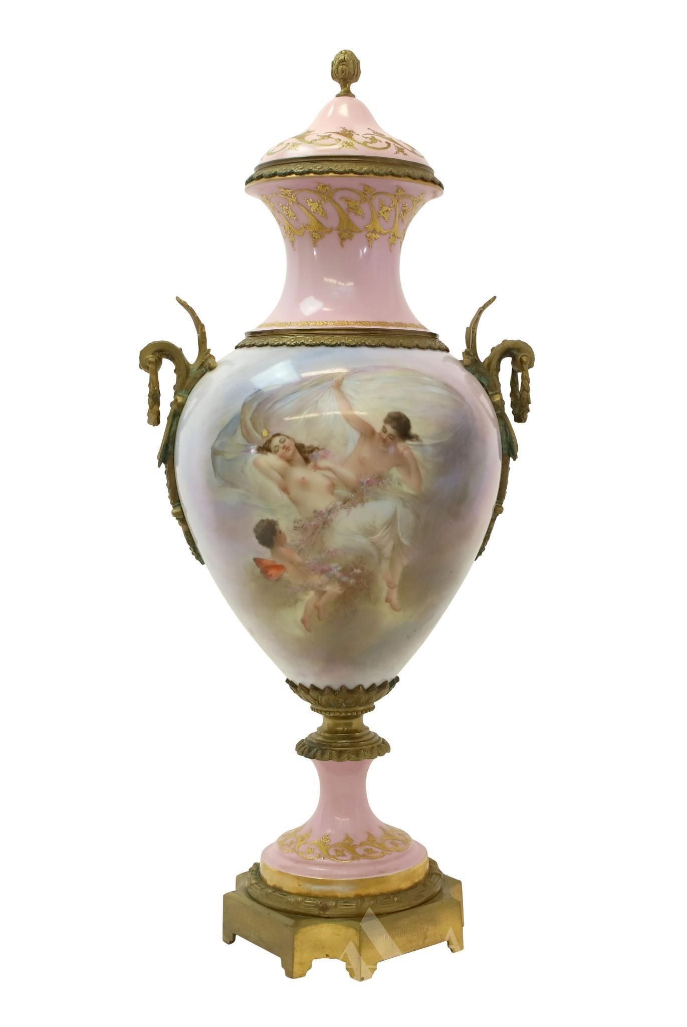 French Sevres Porcelain Urn
