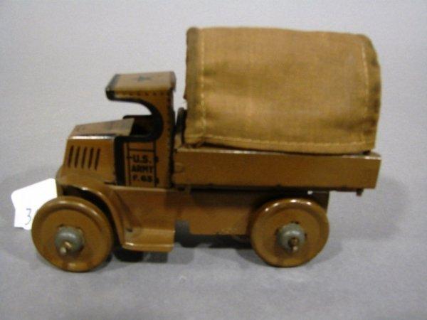 3604: Marx C-Cab US Army friction truck