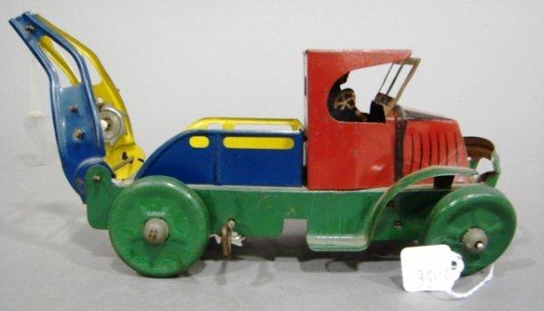 3606: Marx C-Cab Mack wind-up tow truck