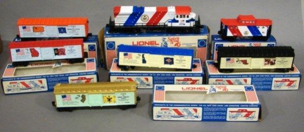 3617: 7 pcs. of Lionel Spirit of '76 set. OB.