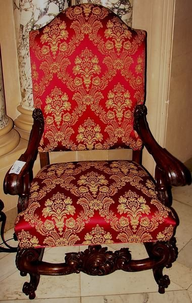 4001: Baroque Carved Arm Chair