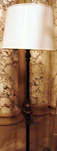 4005: Pair bronze/ wrought iron  floor lamps
