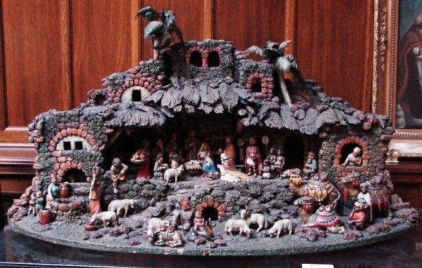 4017: Carved Nativity Diorama-E.E. Kraeuter attrib.