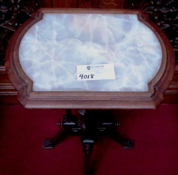 4018: Renassance Revival pedestal candle stand