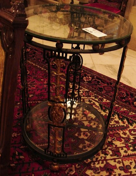 4029: Pair of wrought iron tables