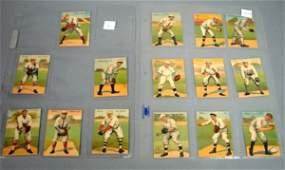 7529: 15 Mecca Double Fold Cigarette Baseball Cards