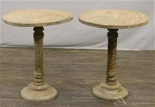 Pair of Pedestal Tables