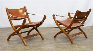 Pair of Poul Hundevad for Vandrup Folding Chairs