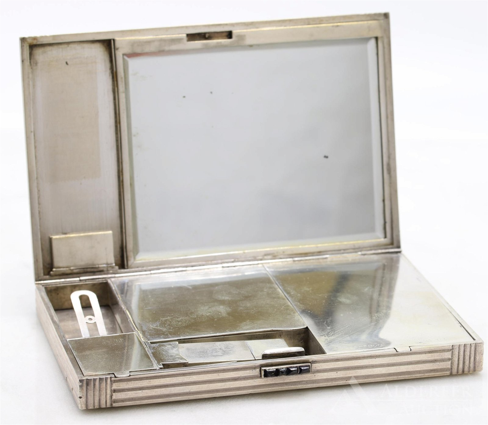Boucheron Sterling Diamond Art Deco Compact