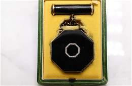 Cartier Paris Gold Diamond Enamel Compact Set