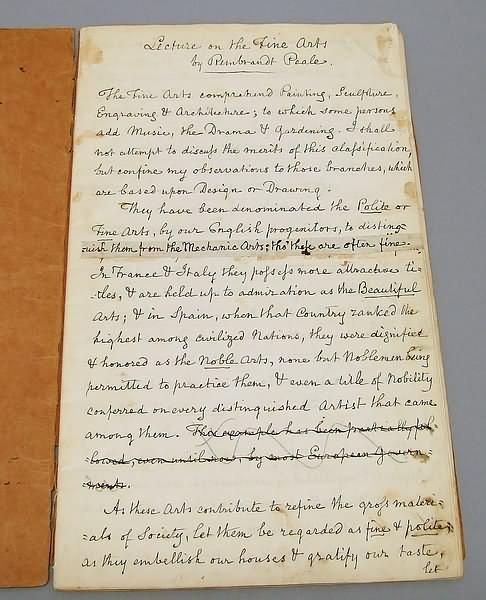 2006: Rembrandt Peale Manuscript/Autograph