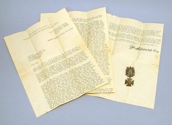 2008: Spanish Civil War Letter and Medal