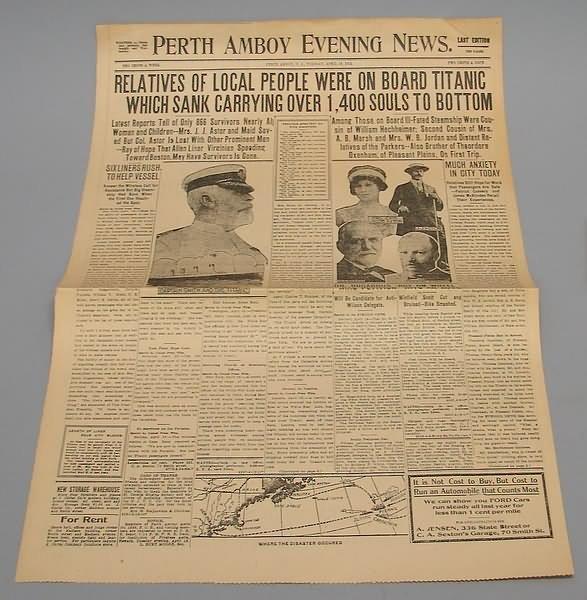 2017: Titanic Newspaper