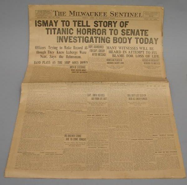 2018: Titanic Newspaper